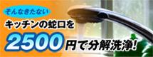 蛇口を2500円で分解洗浄!