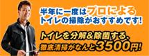 トイレの分解洗浄がなんと3500円!